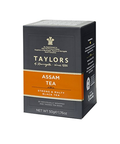 Taylors of Harrogate Pure Assam Tea - 20 Wrapped & Tagged Tea Bags