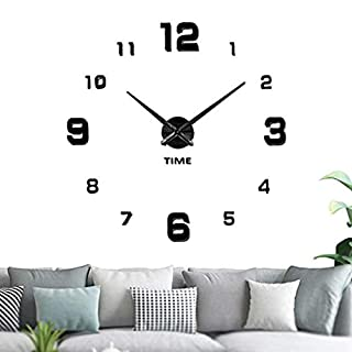 The world's first Silent Wall Clock Creative Nordic Style Modern Mute Frameless Large 3D DIY Clocks Mirror Stickers Battery Operated Home Office Decoration 4 Styles