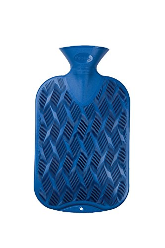Fashy 6437 54 2007 Wärmflasche Karo-Halblamelle, 2 Liter, saphir