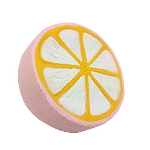 Dapei Anti-stress Spielzeug Eine halbe Große Zitrone Langsam aufsteigende Stressabbau Party Dekoration Glänzendes Geschenk für Jungen und Mädchen -
