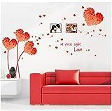 Sshssh Diy Wandkunst Aufkleber Dekoration Orange Liebe Gras Rahmen Wandaufkleber Ausgangsdekor 3D Tapete Für Wohnzimmer 50 * 70 Cm