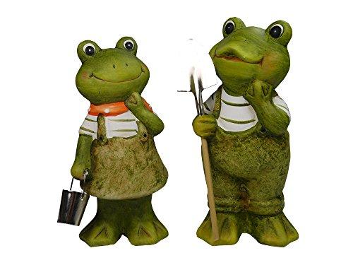 khevga Gartenfigur Gartendeko 2er Set Frosch