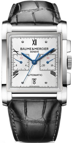 baume-and-mercier-hampton-milleis-silver-dial-alligator-leather-mens-watch-10032-by-baume-mercier