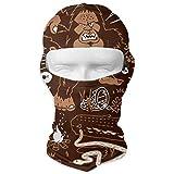 Vidmkeo Sasquatch Bigfoot Balaclava Face Mask Hood for Skiing Camping Running Cycling Neck Warm