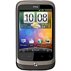 HTC Wildfire Smartphone GPRS EDGE Bluetooth Anthracite brown