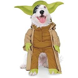 Star Wars Disfraz Yoda Dlx para mascota, M (Rubie's Spain 887893-M)