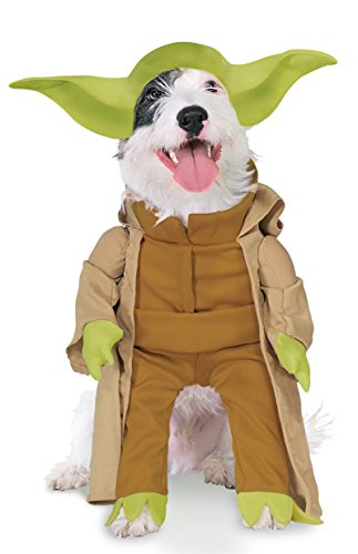 Metamorph Kostüm - Rubies Costume Star Wars Kollektion Pet Kostüm, Yoda mit Armen, Medium, grün