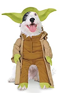 Star Wars - Disfraz de Yoda Deluxe para mascota, Talla XL perro (Rubie