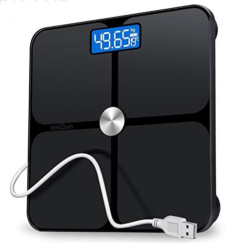 Elektronische Waage Präzisions-Körpergewichtswaage mit extra großem LCD-Display 180 kg / 400 lb Waage und Auftrittstechnologie Digitale Personenwaage (Farbe: Schwarz) Extra Großes Lcd-display