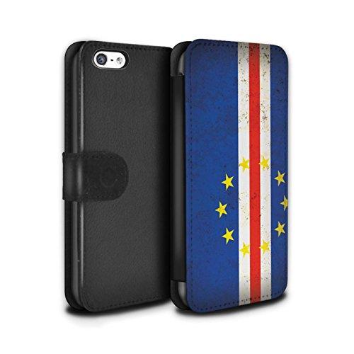 Stuff4 Coque/Etui/Housse Cuir PU Case/Cover pour Apple iPhone 5C / Tunisie/Tunisien Design / Drapeau Africain Collection Cap-Vert