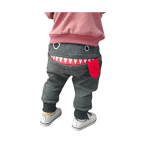 Pantalones Bebé Niños Niñas Chicas Dibujos Animados Tiburón Lengua Harem Pantalones 1