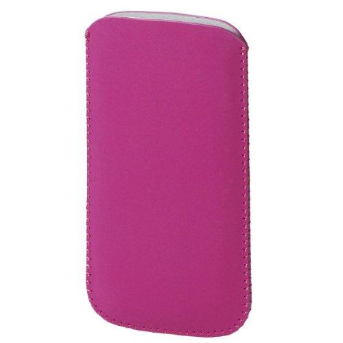Vivanco Étui en tissu synthétique avec sangle de tirage universel pour Samsung rose bonbon