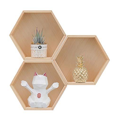 Baffect Juego 3 estantes hexagonales Estante Caja