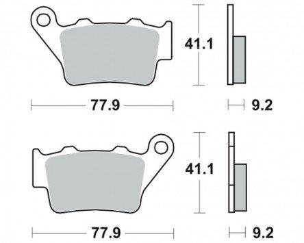 Bremsbeläge TRW MCB672SI für SYM 400 MaxSym i 12- (hinten)