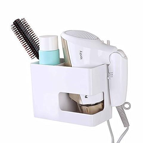 facile et Eco Vie Super Ventouse Support pour sèche-cheveux Tenue forte adhésif Vacuum Air Blower Rack-no besoin de percer et ongles