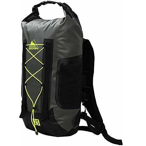 Cox Swain 25L super leichter wasserdichter Outdoor Rucksack Packsack für Fahrrad, Wassersport etc., Colour: Grey