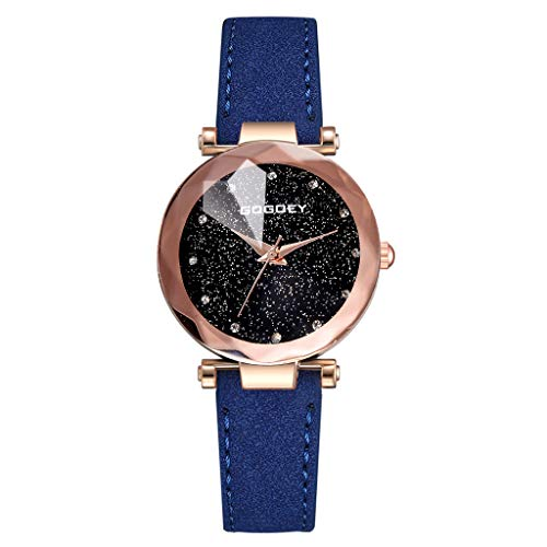 REALIKE Damenuhr Armbanduhren Retro Keine Nummer Round Exquisit Nachthimmel Uhren Kreative Uhr Mode Ultradünn Britische Artart und Weise Neue High End Geschäftsuhr Business