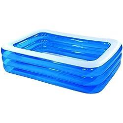 Eeayyygch Aufblasbarer Pool für Kinder, groß, faltbar, Blau, Größe: 305 cm, blau, 305cm