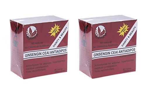 2 x Anti - Fett Tee mit Ginseng (2 x Anti - Adipose Tea with Ginseng) schneller Gewicht Cellulite Verlust 60 Beutel