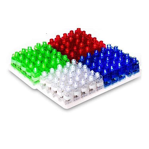 (mxdmai 4 Stück helle LED Finger Licht für Raves, Partys und andere Nacht Events Fingerlampe Taschenlampen)