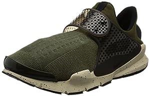 Nike Herren Sock Dart Laufschuhe, Marrón (Marrón (Cargo Khaki/Black-Rattan-Total Crimson)), 38.5 EU