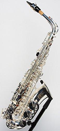 Original SYMPHONIE WESTERWALD Design Altsaxophon Saxophon Alt, echt versilbert, inkl. Luxus-Hartschalenkoffer und Zubehör, Neu