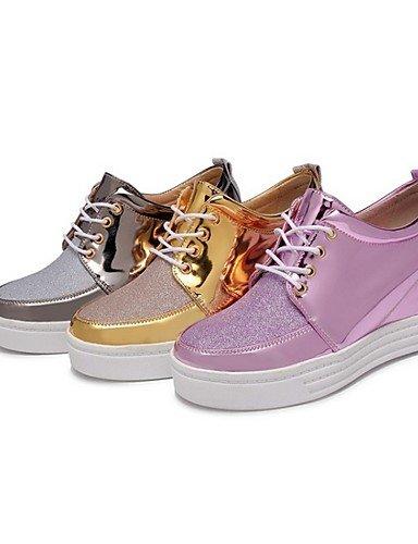 WSS 2016 Chaussures Femme-Extérieure / Décontracté / Sport-Rose / Argent / Or-Talon Compensé-Compensées / Talons / Confort-Talons-Synthétique silver-us8 / eu39 / uk6 / cn39
