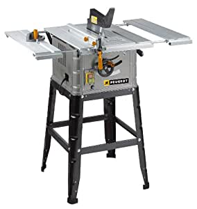 Peugeot energysaw 254b aluminium table saw 2 extensions for Meuble aubaine mascouche circulaire