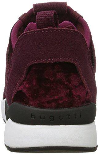 Bugatti - 441270606000, Pantofole Donna Rot (Bordo)