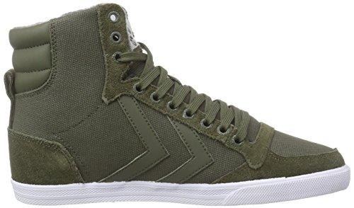 hummel SLIMMER STADIL WAXED Unisex-Erwachsene Hohe Sneakers Grün (Ivy Green 6187)