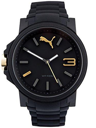 Puma Reloj Analógico para Hombre de Cuarzo con Correa en Silicona PU104311001