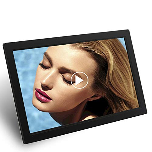 TONGTONG 24 Zoll Digital Photo 1920 * 1080 Frame Metal Frame Electronic Picture Frame High Definition Video Audio Player LCD Display mit drahtloser Fernbedienung