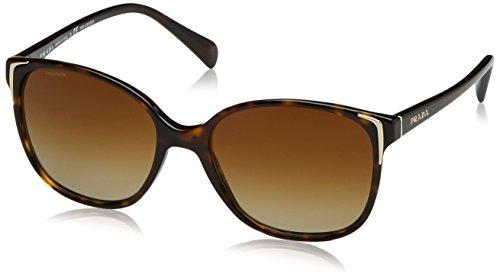 Prada Damen 0PR01OS 2AU6E1 55 Sonnenbrille, Braun (Havana/Polar Brown)