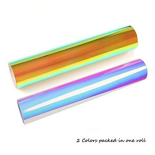 KAIMENG,50X100 CM,Vinyl Selbstklebefolie Transferpapier Vinylfolien T-Shirt Folie Transferfolie Textilfolie Glitzer zum Aufbügeln auf Textilien DIY(2 Farben)