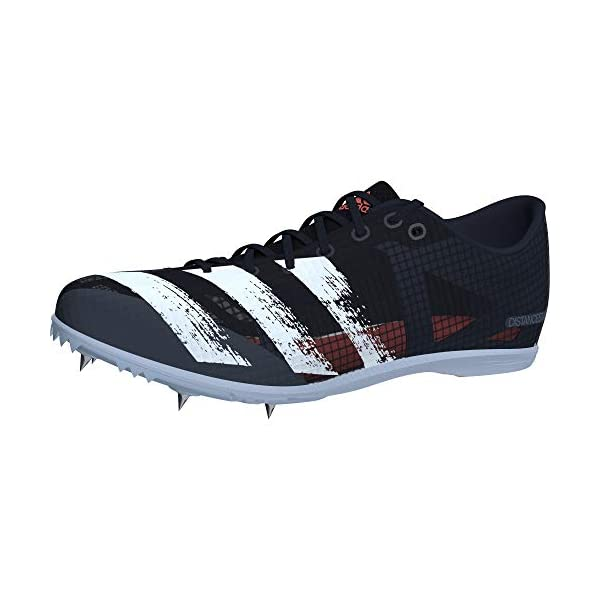 adidas Boys' Distancestar M Track Shoe, Core Black/FTWR White/Signal Coral, 4 UK