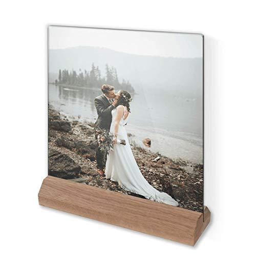 Glasfoto - Individuelles Glasbild   Fotogeschenk mit persönlichem Motiv in Farbe mit Holzsockel