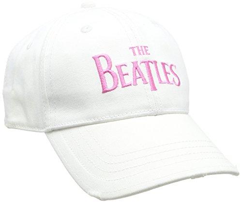 Ladies White Distressed Cap With Emb Drop T Logo &