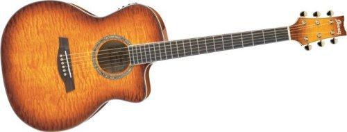 Ibanez-Guitarra acústica electro-SÃ  serie ambiente a300e-vv-violín envejecido
