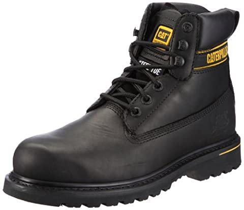 CAT Footwear Holton Steel Toe, Men's Work and Safety Boots, Black, 10 UK