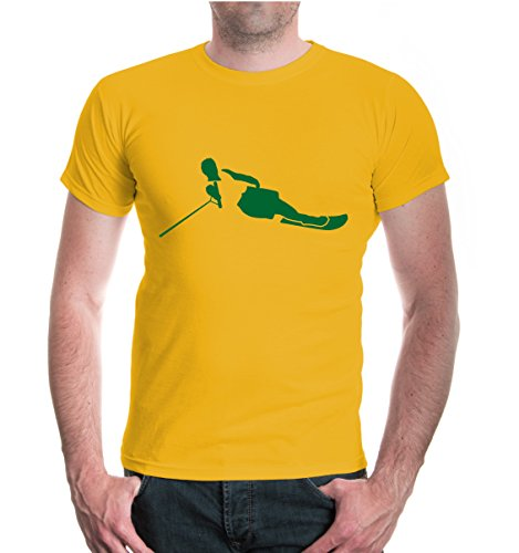 buXsbaum® T-Shirt Water-Skiing Sunflower-Bottlegreen