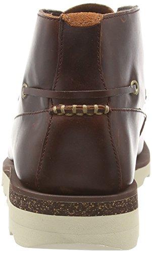 Clarks Dakin Deck, Mocassins homme Marron (Mahogany Leather)