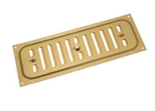 Aluminium gold Glücksache Louvre ventilation Abdeckung 9 x 3 Zoll (Packung mit 25)