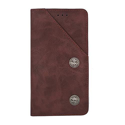 ZYQ Rot Retro Flip Echt Leder Tasche TPU Silikon Gel Schutz Hülle Für Elephone M2 Brieftasche Case Cover Etui Klapphülle Handytasche