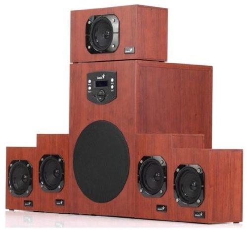 Genius SW-HF 5.1 4600 5.1channels 125W Madera conjunto de altavoces - Set de altavoces (5.1 canales, 125 W, Cine en casa, Madera, 90 dB, 40-20000 Hz)
