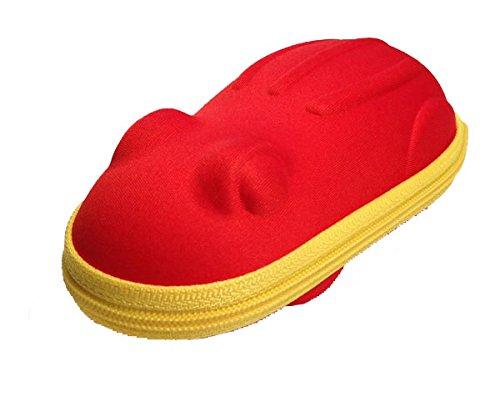 Brillenetui/Etui für Kinderbrillen in Frosch Form Rot