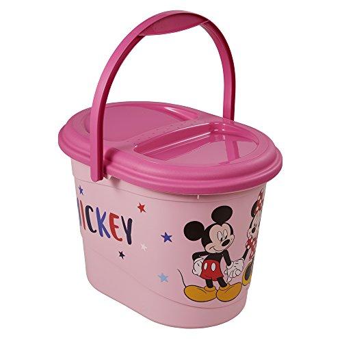 leimer mit Deckel und Tragegriff, 13 l, Karol, Pink (Rosa Kunststoff-eimer)