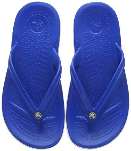 Crocs Unisex-Erwachsene Zehentrenner Zehentrenner Crocband Flip, Blau (Bright Cobalt/Weiß 4kg), 39-40 (Herstellergröße: M7/W9)