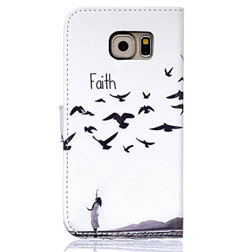 Voguecase® für Apple Iphone SE hülle ,Kunstleder Tasche PU Schutzhülle Tasche Leder Brieftasche Hülle Case Cover (Pflaumen/Hirsch) + Gratis Universal Eingabestift Faith