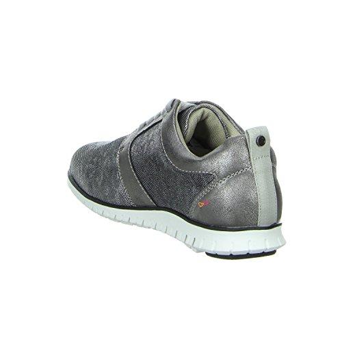 BullBoxer 750832286 Sneaker Materialmix Dark Dark Silver Silber