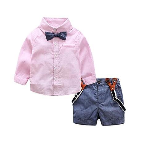 Malloom® 1 jeu Enfants de style scolaire T-shirts Bébés Tops + Pantalons Vêtements Outfits (12 mois,